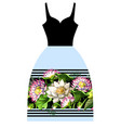 design dress with waterlily hand draw vector image vector image