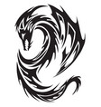 dragon tattoo vintage engraving vector image vector image