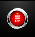 engine start button vector image vector image