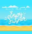 enjoy summer banner tropical background with vector image vector image