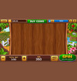 farm slot game vector image vector image