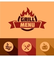 Flat grill menu design elements