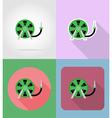 garden tools flat icons 07 vector image