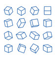 geometric shapes platonic solid icon line vector image vector image