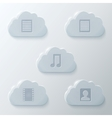 Glass Clouds Icons Set vector image vector image