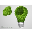 green energy icon vector image vector image