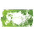 Green hand-drawn banner - eco background vector image