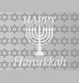 hanukkah typographic design - happy vector image