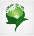 happy earth day logo design vector image vector image