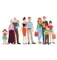 happy family detailed couples with baby kid set vector image vector image