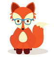 hipster fox vector image