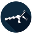 icon zippers with a long shadow vector image vector image