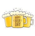 international beer day label vector image vector image