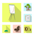 isolated object furniture and work symbol set vector image vector image