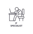 it specialist thin line icon sign symbol vector image vector image