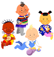 kids of different nationalities vector image