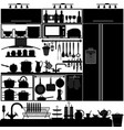kitchen utensil tool interior design equipment a vector image vector image