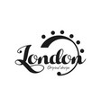 london city name original design black ink hand vector image vector image