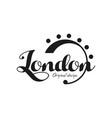 london city name original design black ink hand vector image