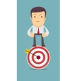 man stands on top of the target vector image vector image