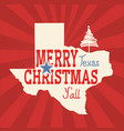 merry christmas texas greeting card american vector image