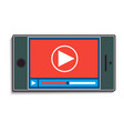 mobile phone with watching a video vector image