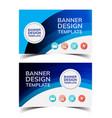 multipurpose layout banner design6 vector image vector image