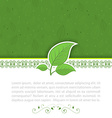 Natural concept Green leaves vector image vector image