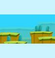 platformer game design set nature wood meadow vector image
