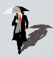 rain Man with umbrella vector image vector image