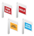 real estate signs vector image vector image