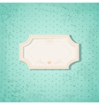 Retro Frame on Blue Spotted Background vector image