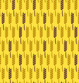 Seamless Pattern with Wheat Harvest Autumn vector image vector image