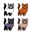 set cartoon kitties or cats vector image