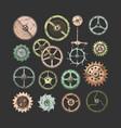 set gear wheels vector image