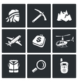 Set of Mountain rescue Icons Man Ice Ax vector image vector image