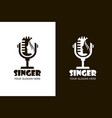 singing woman icons vector image