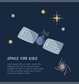 single space station in a open space flat vector image vector image