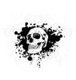 Skull tshirt design vector image