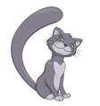 Smiling gray cat 2 vector image vector image