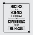success is a science motivationla poster vector image vector image