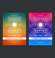 summer party design poster or flyer night club