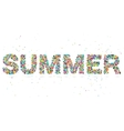 summer word consisting of colored particles vector image vector image
