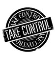 take control rubber stamp vector image vector image