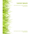 Template with grass vector image vector image
