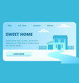 two-storey house on background sky sweet home vector image vector image