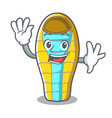 waving sleeping bad character cartoon vector image vector image