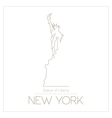 World landmarks New York USA Statue of Liberty vector image