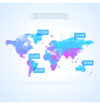 world map with elements infographics vector image vector image