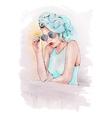 bright girl vector image